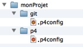 Structure projet git-p4